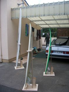 surfboard stand rack - Google Search