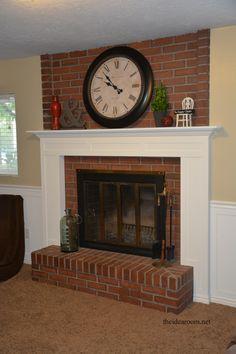 build-fireplace-mantle | theidearoom.net #LowesCreatorChallenge