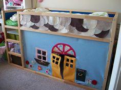 IKEA Hackers: An Ikea Kura bed felt playhouse  (I cannot get over how creative people are!)