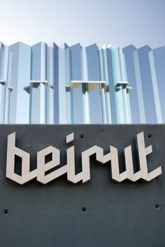 """wow, this is awesome. Great lettering for """"beirut"""""""