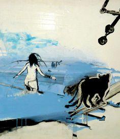 Ilona Szalay: Panther, 2015 www.kidsofdada.com/products/panther-2015 #art #painting #blue