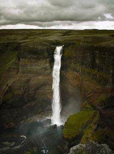 heyfiki:  Haifoss, Iceland.   Definitely going to Iceland someday.  #1 on my list