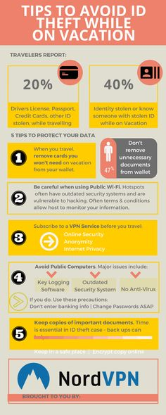 How to avoid ID Theft on vacation #travel #tips