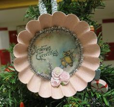 pastel tart tin ornament