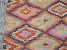 turkish kilim rug natural wool