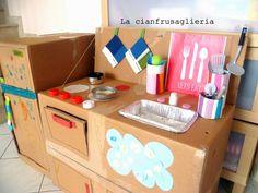 Come fare una cucina in cartone