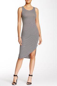 Velvet Torch | Asymmetrical Hem Striped Jersey Dress | Nordstrom Rack