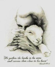 Christian Drawings, Christian Artwork, Lamb Drawing, Jesus Lamb, Jesus Drawings, Pictures Of Jesus Christ, Religion Catolica, Jesus Painting, The Good Shepherd