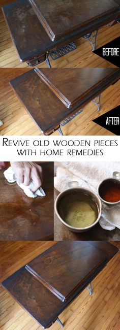 Using common and natural household products such as walnuts, vinegar and oil, you can literally rub away the small scratches and scrapes your furniture may have picked up over the years (let�s face it � life happens!), without spending a fortune to refinish the pieces. http://www.ehow.com/ehow-home/blog/fix-up-old-furniture-and-flea-market-finds-using-these-natural-home-remedies/?utm_source=pinterest.com&utm_medium=referral&utm_content=blog&utm_campaign=fanpage
