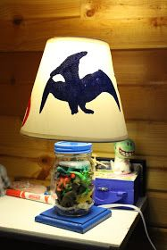 With Dirt On Our Face: DIY Dino Lamp