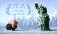 Illustration from The Dam Keeper's US premiere, the New York International Children's Film Festival.
