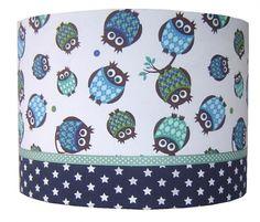 Kinderlamp Uiltjes blauw | Lampen | Vlindertje Vrolijk