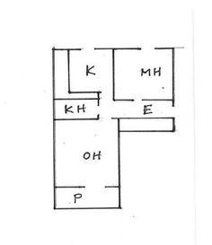 Asunnon pohjapiirros Helsinki, Floor Plans, Diagram, Floor Plan Drawing, House Floor Plans