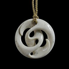 Path of Life Pendant by Kerry Kapua Thompson, Māori artist Wood Carving Art, Bone Carving, Wood Art, Wooden Jewelry, Handmade Jewelry, Bone Crafts, Maori Designs, Bone Jewelry, Maori Art