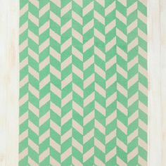 Mint herringbone cotton rug // Collected by Lee Ann Yare