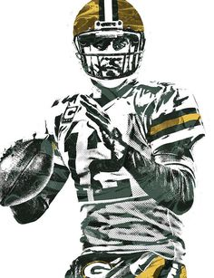 Aaron Rodgers Art Print featuring the mixed media Aaron Rodgers Green Bay Packers Pixel Art 4 by Joe Hamilton Green Packers, Go Packers, Packers Football, Football Boys, Football Season, Football Players, Messi, Odell Beckham Jr Wallpapers, Packers Funny