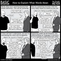 Basic Instructions - Basic Instructions - How to Explain What WordsMean