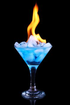 Ice & Fire by Ortega Yuriy~ I think I found us a signature drink @Gypsy Soul Soul Soul Soul Storm :p