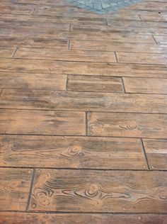 Stamped Concrete Patterns and Colors | Boardwalk/Wood Plank Stamp patterns