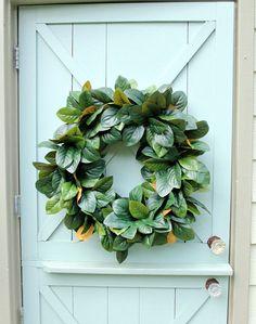 Hey, I found this really awesome Etsy listing at https://www.etsy.com/listing/290532063/magnolia-wreath-magnolia-leaf-wreath