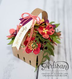 Crush On Colour: Stampin' Up! Artisan Design Team Blog Hop: Basket of Botanicals
