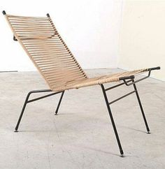Clement Meadmore; Enameled Metal and Cord 'String' Chair, 1950s                                                                                                                                                     More