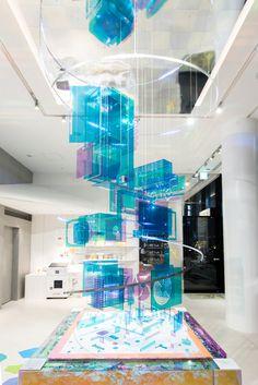 Display Design, Booth Design, Colegio Ideas, Museum Exhibition Design, Light Installation, Stage Design, Light Art, Retail Design, Lighting Design