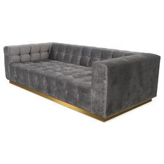 Deep Delano Sofa in Charcoal Velvet - ModShop