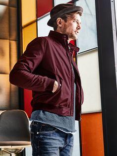 969cf0625b691 Schott Blouson Protect in Farbe Rot Slim Fit jetzt online kaufen   Mey    Edlich