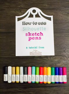 How To Use A Silhouette Cameo: Silhouette Sketch Pens