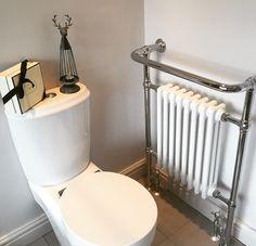 Bathroom, toilet, vintage towel radiator, Nordic