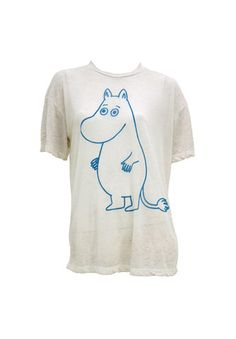 Moomin t-shirt. Shop: http://shop.ivanahelsinki.com/collections/moomin-by-ivana-helsinki/products/moomin-white