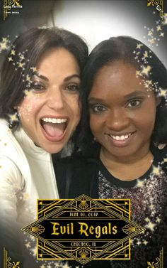 """Lana Parrilla""""Hey #evilregals, be on the lookout for my special Snapchat filter only available at #ouatchi """""""