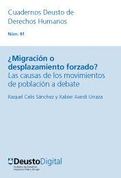 ¿Migración o desplazamiento forzado? : las causas de los movimientos de población a debate / Raquel Celis Sánchez, Xabier Aierdi Urraza. - 2015