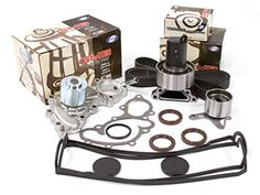 Evergreen TBK154VC 88-92 Toyota 4Runner Pickup 3.0 SOHC 3VZE Timing Belt Kit Valve Cover Water Pump (with outlet pipe)