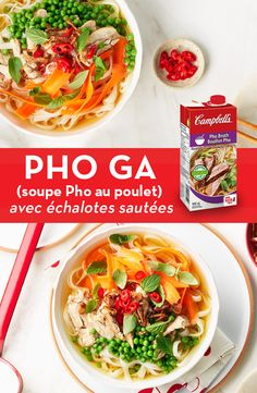 Pho Ga (Chicken Pho) with Crispy Shallots Recipe Soup Recipes, Chicken Recipes, Cooking Recipes, Chilli Recipes, Crockpot Recipes, Lunches And Dinners, Meals, Shallot Recipes, Asian Recipes