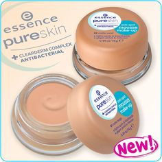 """hi beauties, do you want to perfectly cover spots and blemishes and battle them at the same time? then our new """"pure skin anti-spot mousse make-up"""" is just what you need! it makes your complexion look flawless and matt without blocking your pores. and the special CLEARDERM COMPLEX with active ingredients prevents the appearance of new skin impurities! #essence #cosmetics #makeup #antispot #pureskin #skincare"""