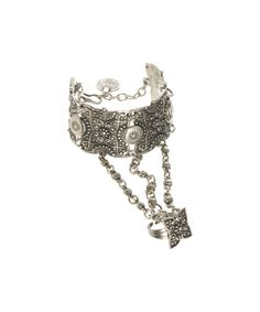 Look at this #zulilyfind! Silvertone Filigree Bracelet & Ring by Chanour #zulilyfinds