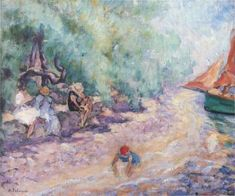 Bathers by the River Henri Lebasque - Date unknown oil on canvas