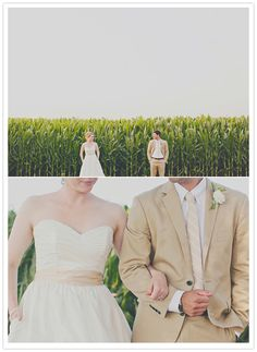 Definitely another photo idea Jean and I will have to do. lol Corn field wedding portraits.