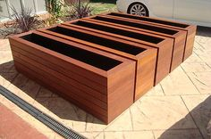 DIY Garden Decoration DIY Garden Decoration, Best Picture For Garden Planters recycled For Your Taste You are looking for something, and it is goin Cedar Planter Box, Wooden Planter Boxes, Wood Planter Box, Wood Planters, Large Garden Planters, Modern Planters, Wooden Garden, Garden Boxes, Recycled Garden