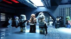 Isn't that chewb...na it couldn't be. | LEGO Star Wars Chewbacca & Stormtrooper Minifigs