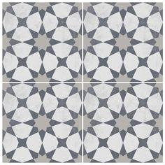 Agadir Vinyl Tile Sticker Pack in Grey - Tile Decals - Floor Stickers Floor Decal, Floor Stickers, Agadir, Grey Flooring, Vinyl Flooring, Floors, Decoration Gris, Mosaic Tiles, Cement Tiles
