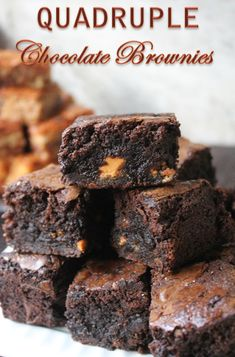 YUMMY TUMMY: Best Quadruple Chocolate Brownies Recipe Ever