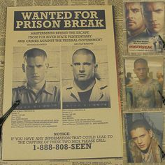 Vintage Retro Paper Poster,wentworth miller Prison Break, MOVIE FILM 42*30cm