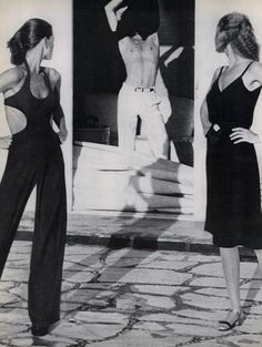 Mark The Difference | Vogue editorial by Helmut Newton, 1975, Lisa...