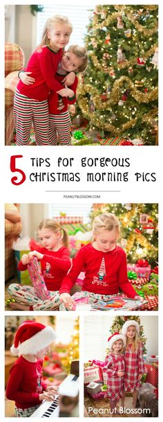5 tips for taking the best Christmas morning photos ever. These photography tips for moms are so easy you can do them with almost any camera you have. Great ideas for capturing Christmas photos of your kids.
