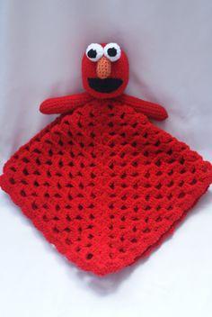 Elmo Lovey Blanket. Security Blanket. Sesame Street.