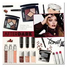 """""""Beauty After Dark"""" by vampirella24 ❤ liked on Polyvore featuring beauty and Christian Dior"""