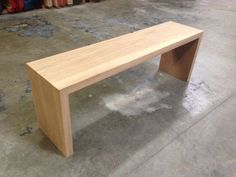 Custom Made White Oak Waterfall Bench